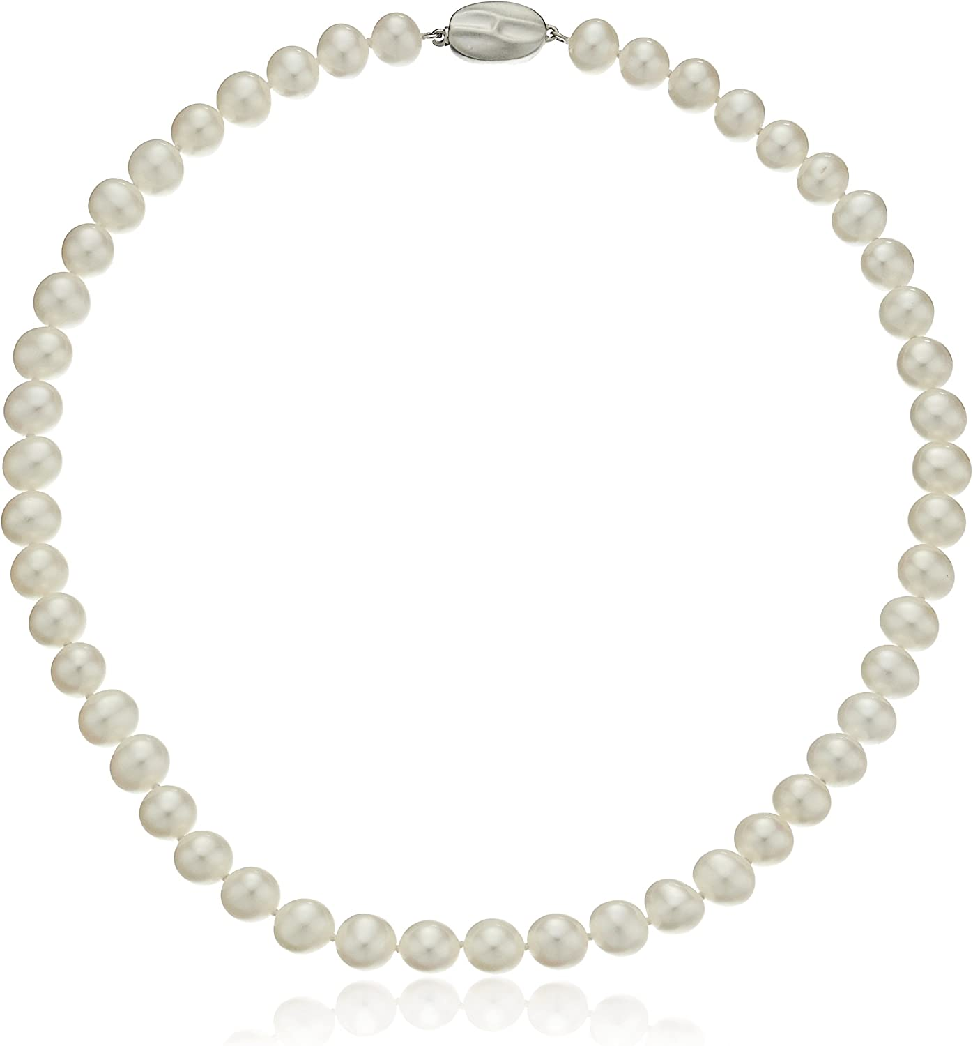 New 8-9mm White Freshwater Cultured Round Pearl necklace 65/'/'