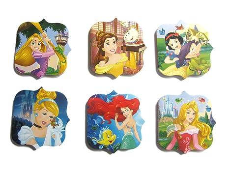 12 x Disney Princess Bloc de notas de fiesta Saco de dormir Belleza Rapunzel Cenicienta Blanca