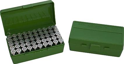 MTM 50 Round Flip-Top Ammo Box 25/32 Auto Cal (Green)