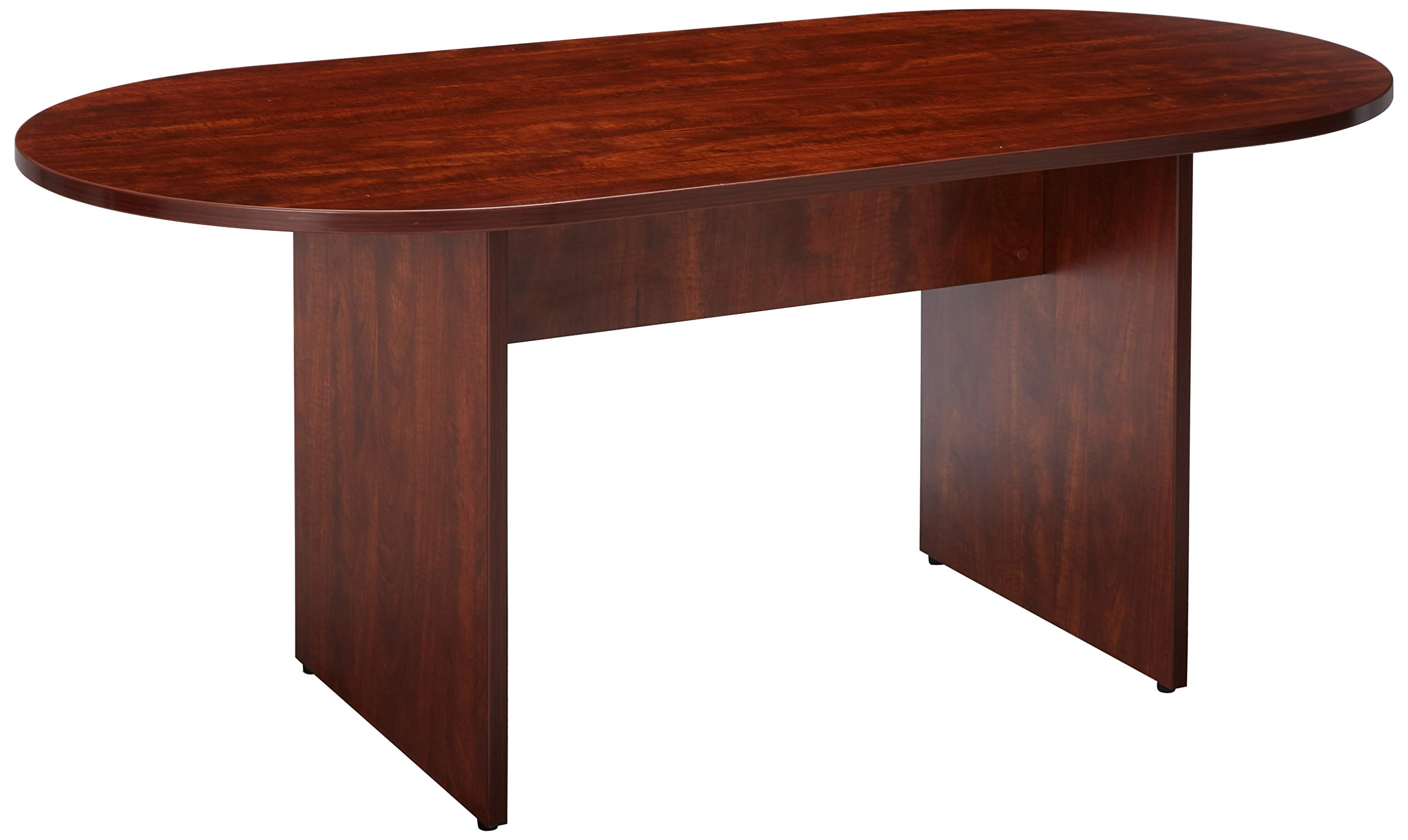Lorell Oval Conference Table, Top and Base, 72 by 36 by 29-1/2-Inch, Cherry by Lorell