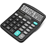 Calculator,TechRise Dual-Powered Standard Function Desktop Calculator for Office and Bussiness