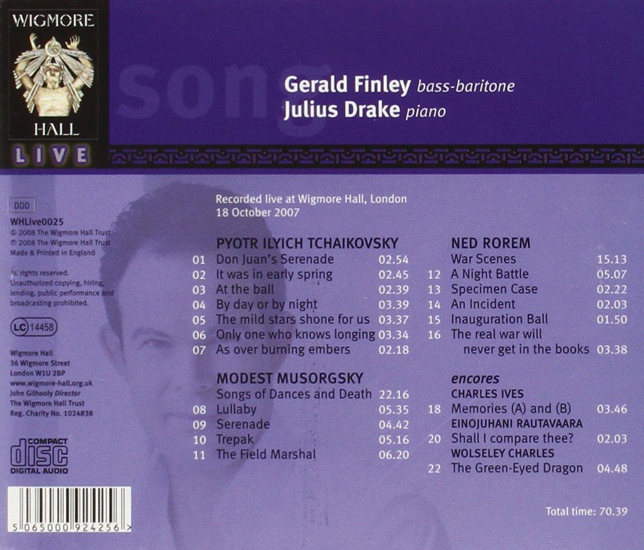Songs by Tchaikovsky, Mussorgsky & Ned Rorem