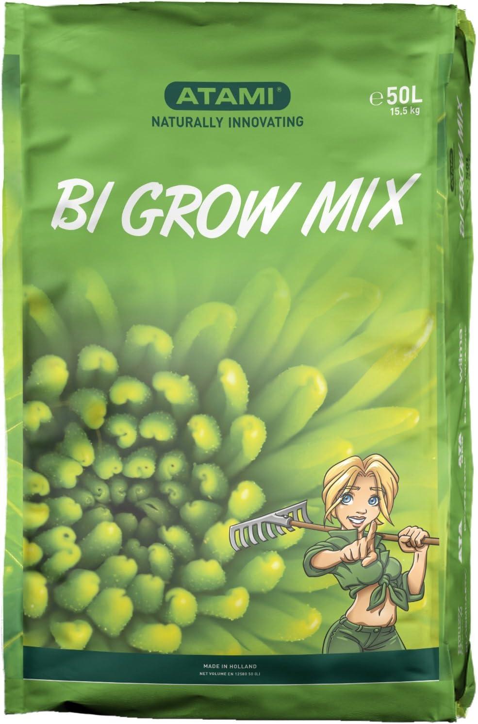 Sustrato para el cultivo en Tierra de Atami Bio Grow Mix (50L ...