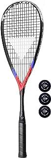 Tecnifibre Carboflex x-speed 125racchetta da squash + 3palline da squash Dunlop Pro