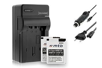 Cargador + 2x Baterías AHDBT-301 para Gopro Hero3 / Hero3+ Black, White & Silver Edition