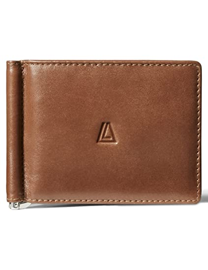 e9c4ecb7a86c Leather Architect Men's 100% Leather Bifold Top Flap RFID Blocking Wallet  with Money Clip and 12 Credit Card Slots
