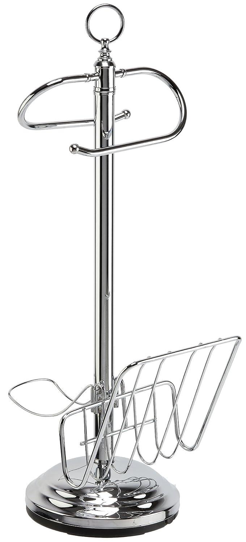 Toilet Valet Free Standing Toilet Tissue Holder and Dispenser, Chrome