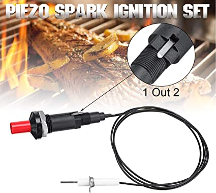 Piezo Spark Ignition Push Button Igniter For Gas Grill BBQ Kit Cable Universal