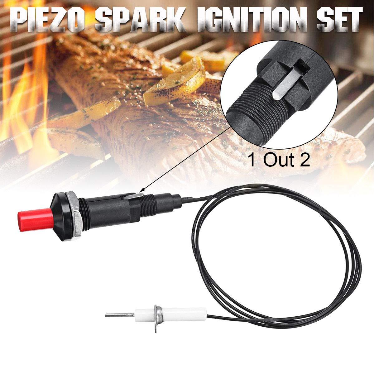 Piezo - Encendido de bujías universal con botón de encendido para parrilla de gas para barbacoa 2 unidades As Picture Show: Amazon.es: Hogar