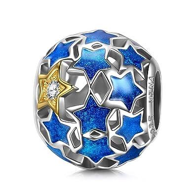 NinaQueen Blue Love - 925 Sterling Silver Charms Nickel-free JteSfH