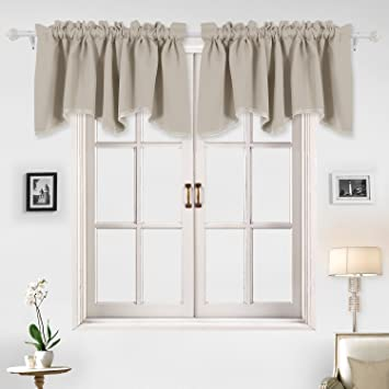 Amazoncom Deconovo Home Decorations Blackout Valances Scalloped