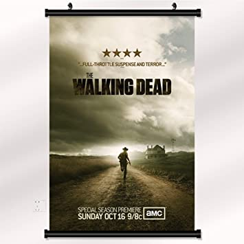The Walking Dead Season 1 2 3 4 Poster With Wall Scroll 22 Inch X 32 Inch