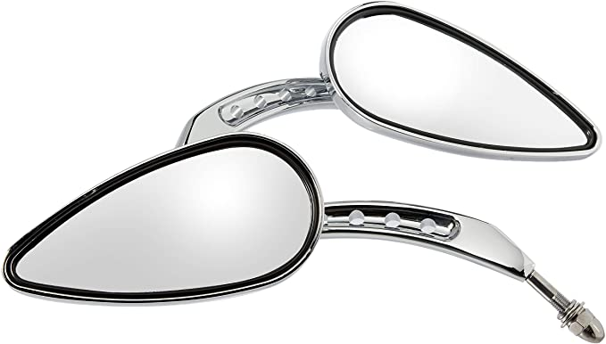 XKH Group Chrome Skull Side Mirrors For 1984 and up Harley Davidson Touring Street Glide Road Glide Special Electra Glide Ultra Classic Ultra Limited