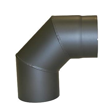 Rauchrohr Ofenrohr Bogen Knie  150 mm mit Türe
