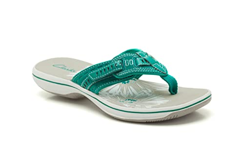 2773075fcedf6d Clarks Womens Casual Clarks Breeze Sky Synthetic Sandals In Teal Standard  Fit Size 3