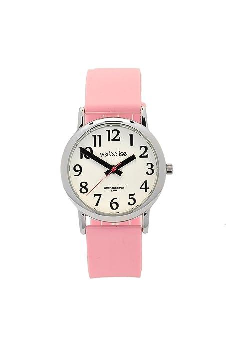 Verbalise - Reloj de pulsera para mujer, resistente al agua, 5 ATM, correa