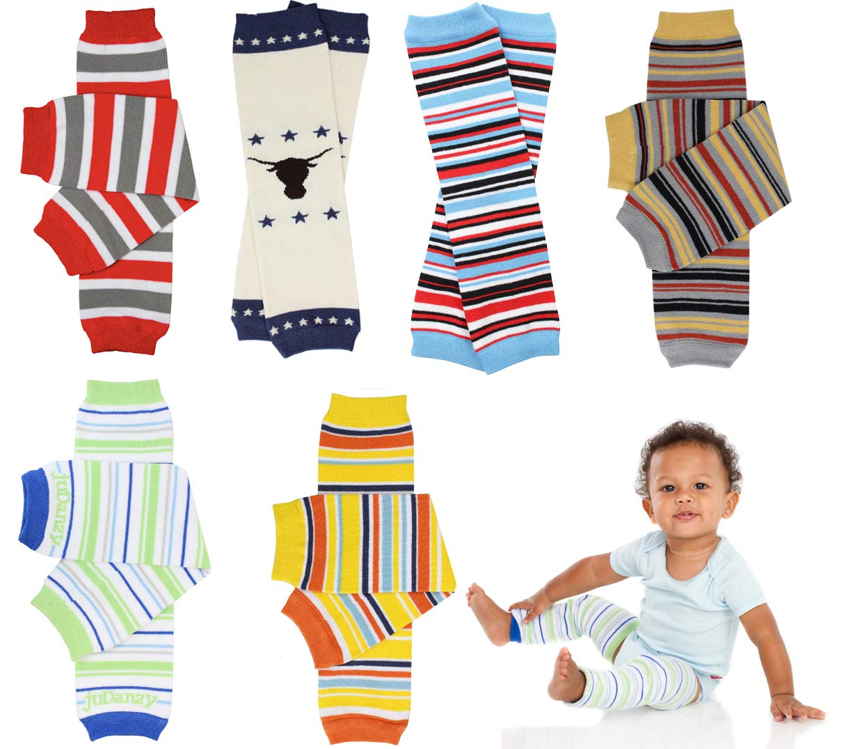juDanzy 6 Pack of Boys Leg Warmers by juDanzy