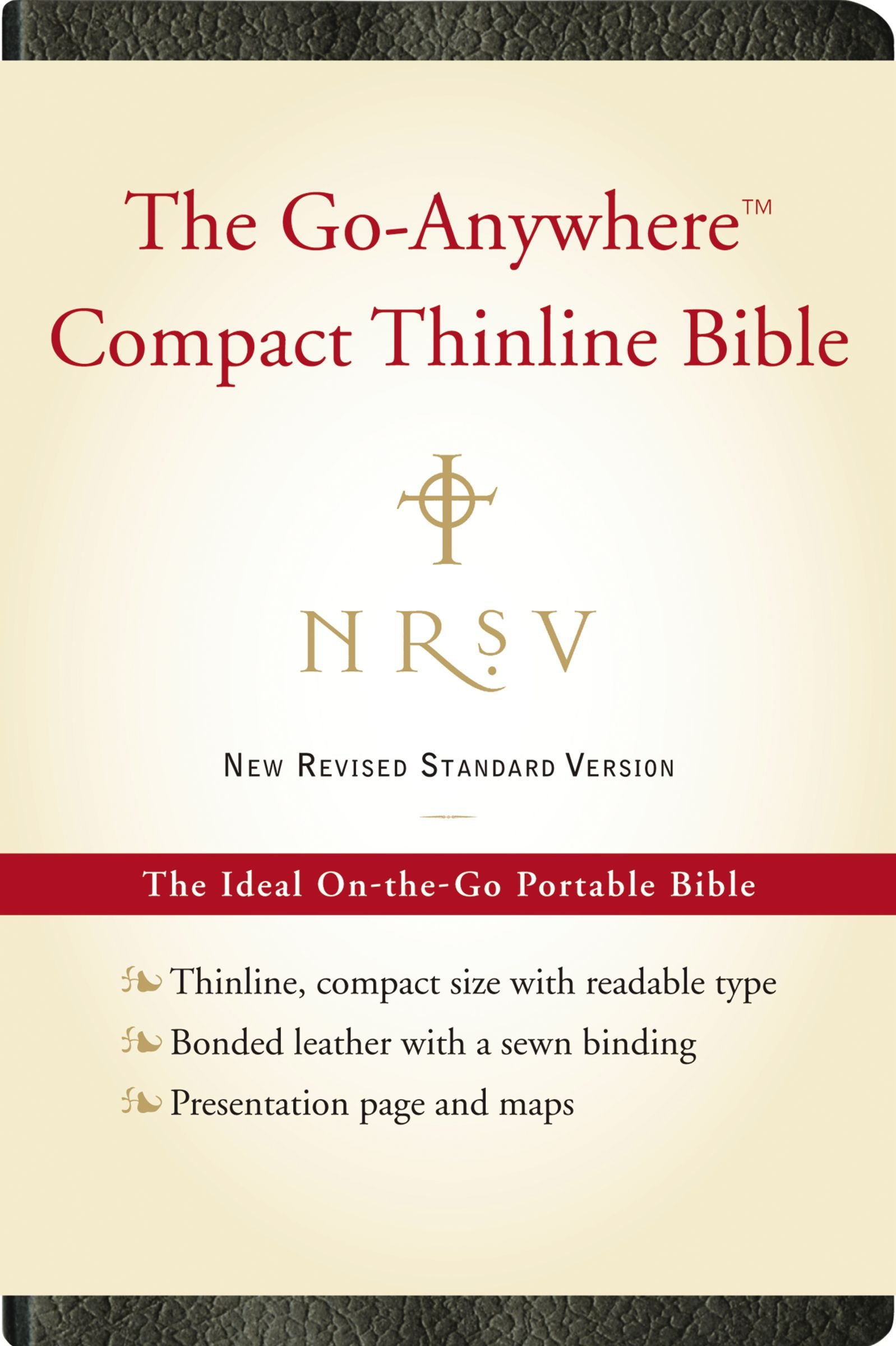 Download NRSV, The Go-Anywhere Compact Thinline Bible, Bonded Leather, Black: The Ideal On-the-Go Portable Bible ebook