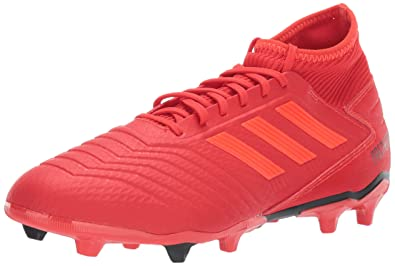 397699344d7 adidas Men's Predator 19.3 Firm Ground, Active Solar red/Black, 6.5 M US