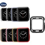 Apple Watch Cover Case 38mm [8 Pack], MAIRUI Soft TPU iWatch Cover Protector Ultra-Slim Lightweight Protective Bumper for Apple Watch Series 3/2/1, iWatch Sport, Edition, Nike+ (8 Pack)