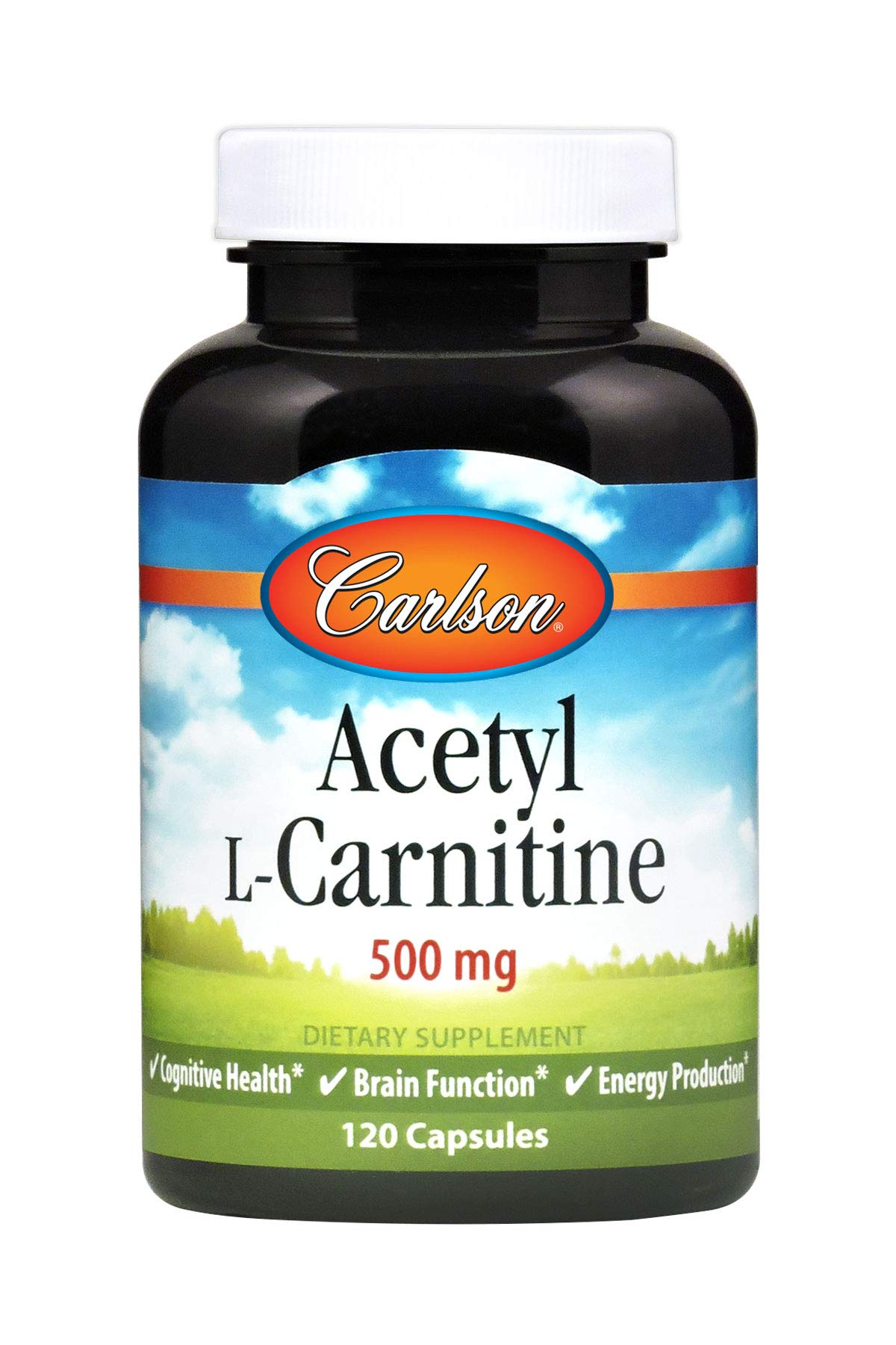 Carlson - Acetyl L-Carnitine, 500 mg, Cognitive Health, Brain Function & Energy Production, 120 Capsules
