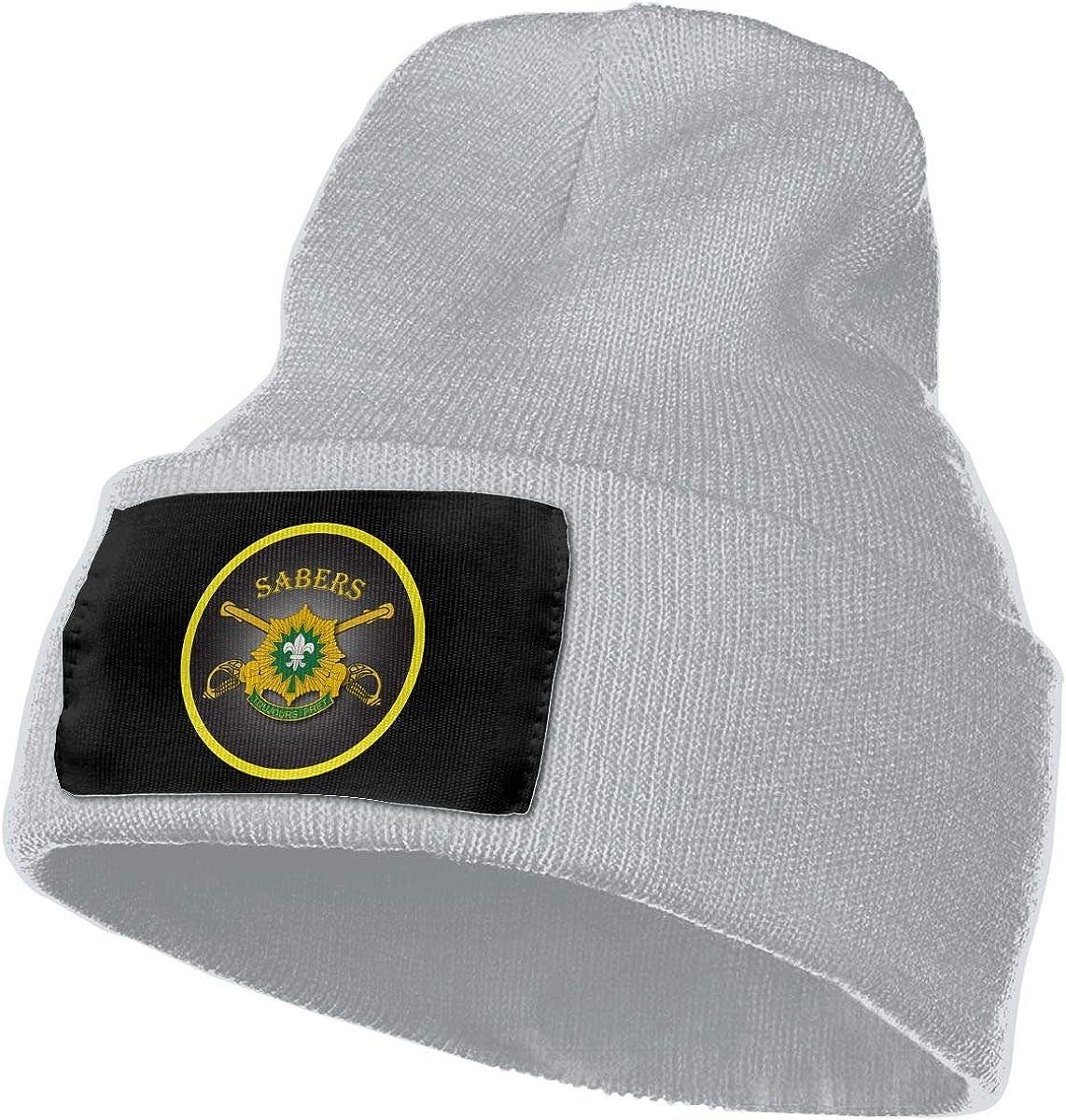 Hdadwy 4to escuadrón 2do Regimiento de caballería para Hombre y para Mujer Gorro de Punto Gorro de Calavera Gorro de Invierno cálido y Suave Gorro de esquí