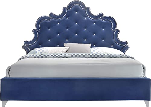 Meridian Furniture Caroline Velvet Upholstered Bed