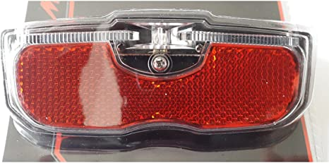 Luz trasera casquillo al portaequipajes bicicleta 1 LED rojo pilas AA ...