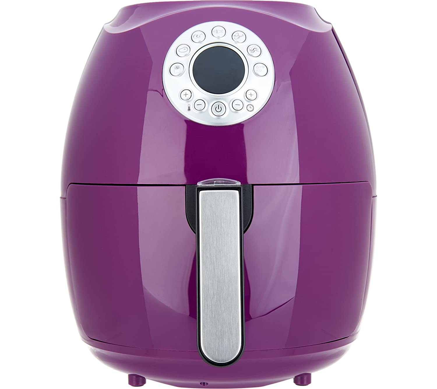 Cook's Essentials 3.4-qt Digital Air Fryer w/ Presets & Pans (Eggplant)