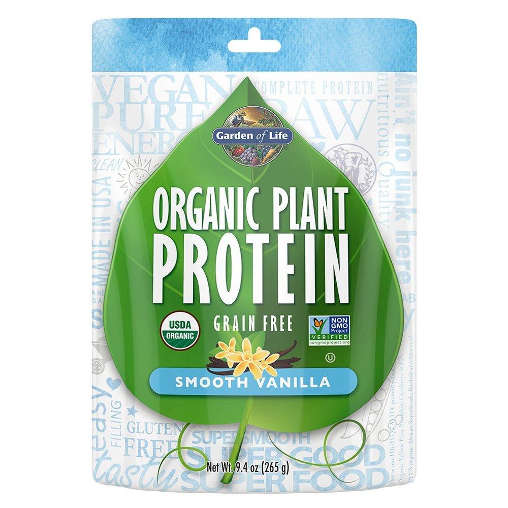 Garden of Life Organic Protein Powder - Vegan Plant-Based Protein Powder, Vanilla, 9.4 oz (265g) Powder by Garden of Life