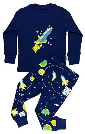 cdb70ec64f60 Floorey Boys Pyjamas Space Rocket 2 Pieces Pajamas set 100% Cotton ...