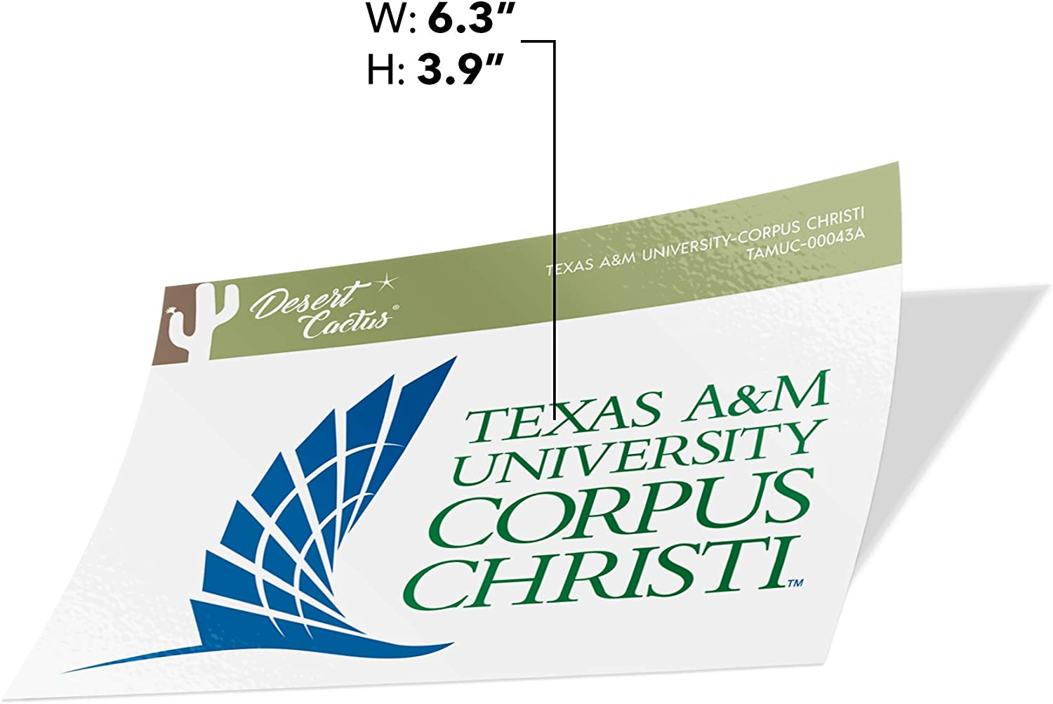 Sticker - 00031A Texas A/&M University-Corpus Christi TAMUCC Islanders NCAA Vinyl Decal Laptop Water Bottle Car Scrapbook