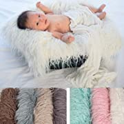 Makaor Newborn Baby Wrap Photography Prop Baby Boy Girl Soft Fur Photo Prop For 0-7 Months Baby By (Size: 80cmx 50cm/31.5 x 19.7 , Pink)