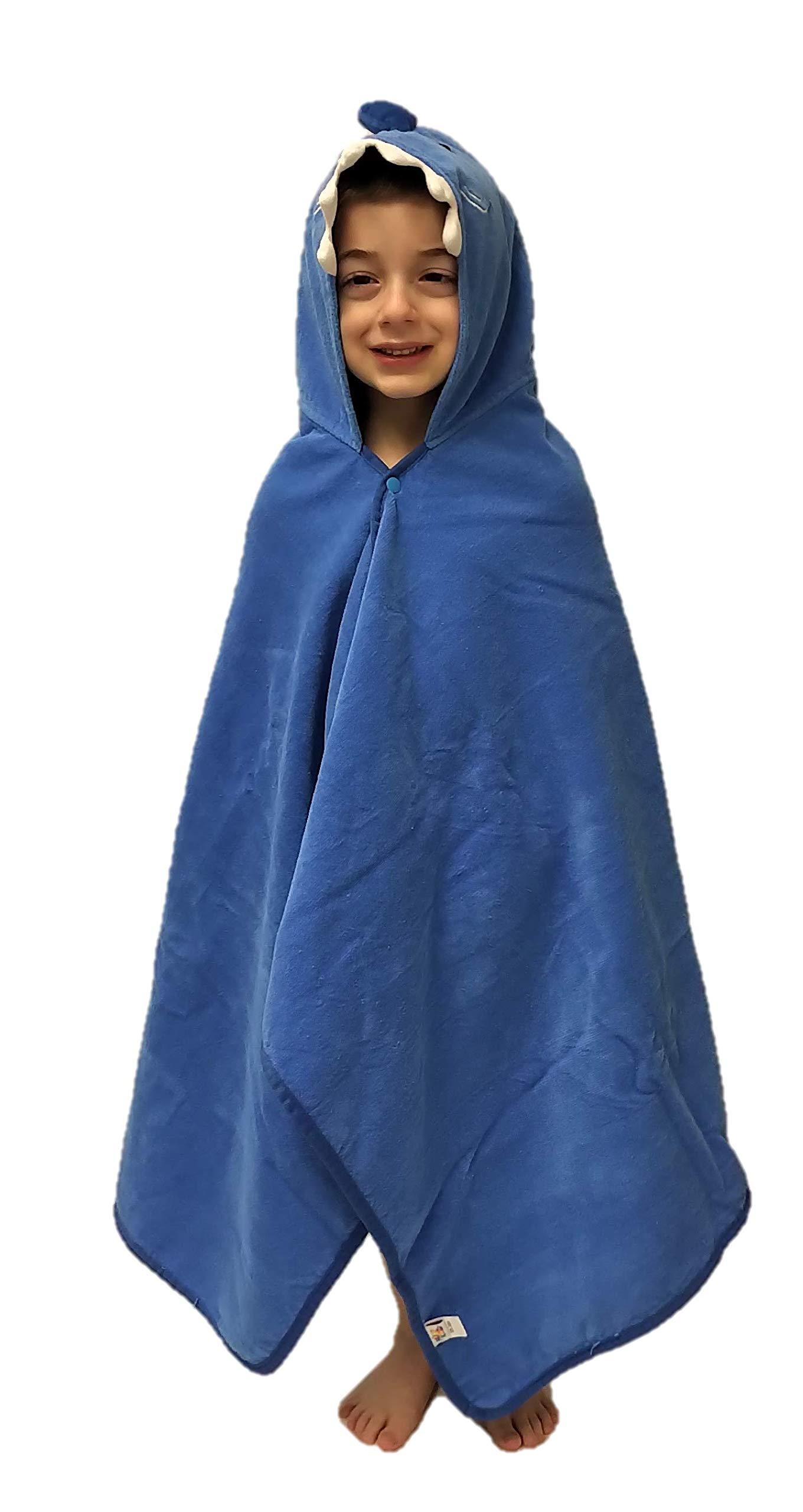 Hudz Kidz Softest Quick Dry Hooded Kids Shark Towel for Toddler - 5T - 100% Cotton Gently Snuggles Kids Dry. Get The Moms Love