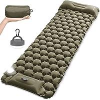 MOUNTDOG Camping Sleeping Pad Mat with LED Camping Lantern, Ultralight Inflatable Backpacking Pad Air Mattress for Camp…