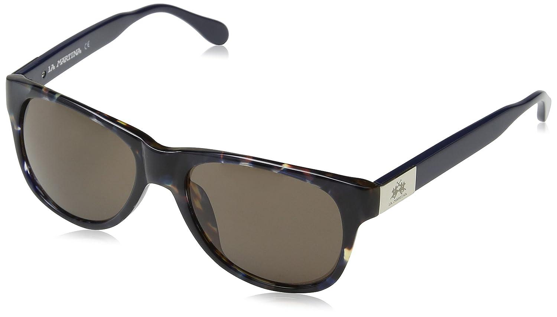 La Martina Unisex-Erwachsene LM-52904 Sonnenbrille, Blau (Blue), 56