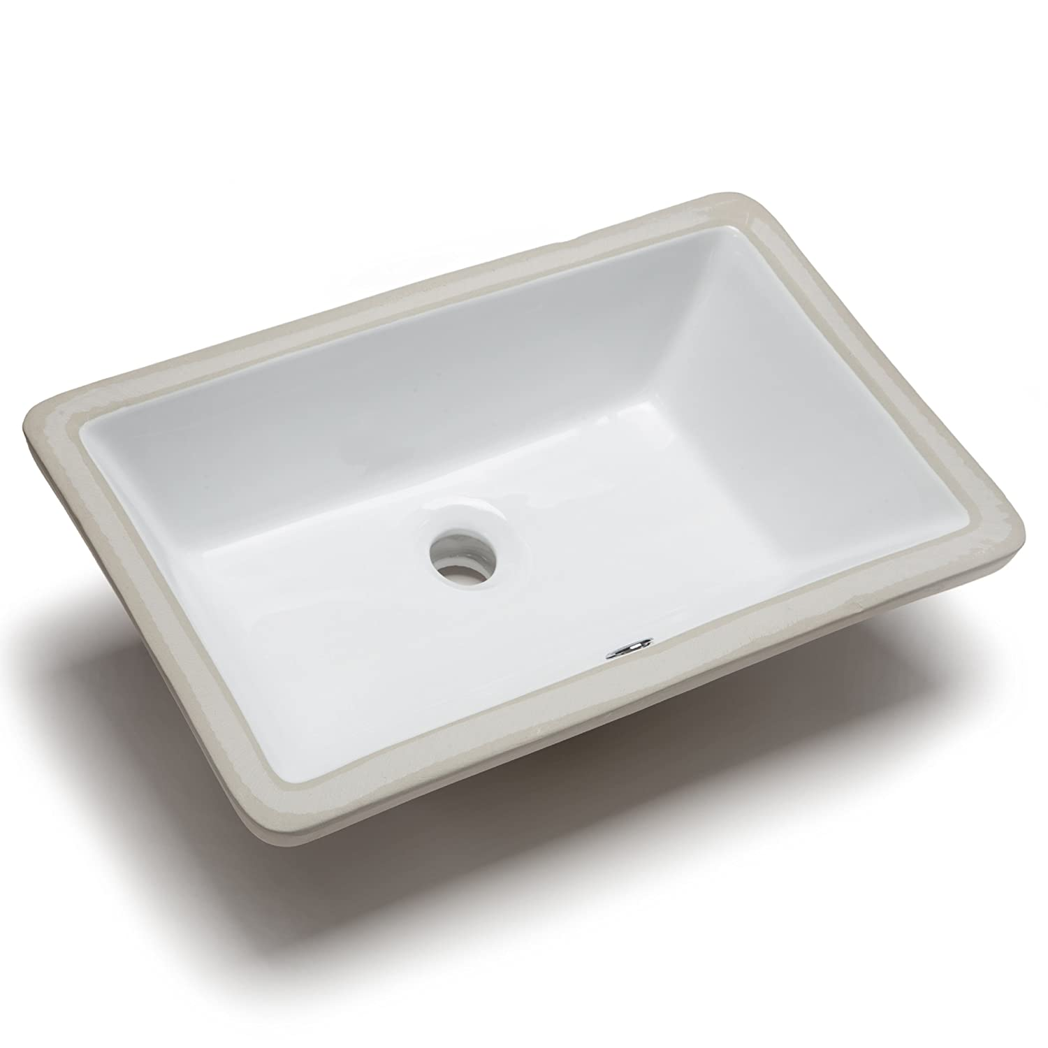 Rectangular Bathroom Sinks Hahn Ceramic Vc014 Medium Rectangular Ceramic Bathroom Sink White