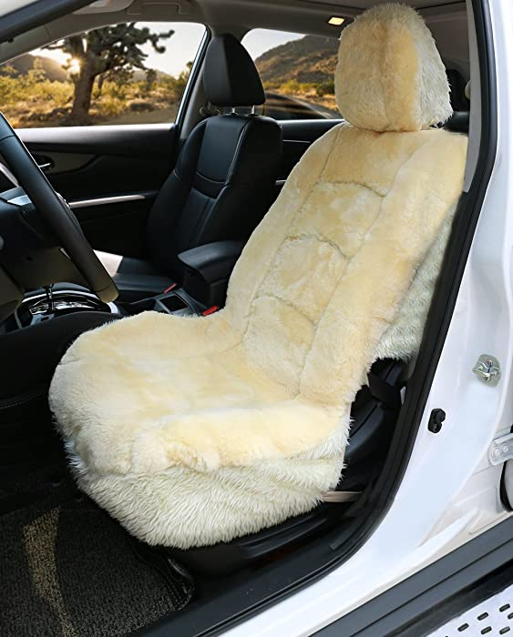 Aegis cover 701009 Black Luxury Australian Sheepskin Wrap Seat Cover Airbag Ready