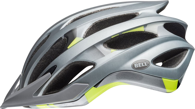 BELL Drifter XC MTB Fahrrad Helm silberfarben gelb 2018  Größe  M (55-59cm)