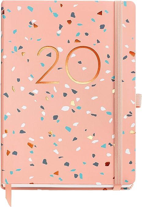 Miquelrius 22353 - Agenda 2020, Semana Vista Vertical (155 x 213 mm), sobremesa, Terrazzo, Catalán: Amazon.es: Oficina y papelería