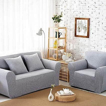 Amazon.com: Omelas Striped Sofa Slipcovers Strentch Stripes ...