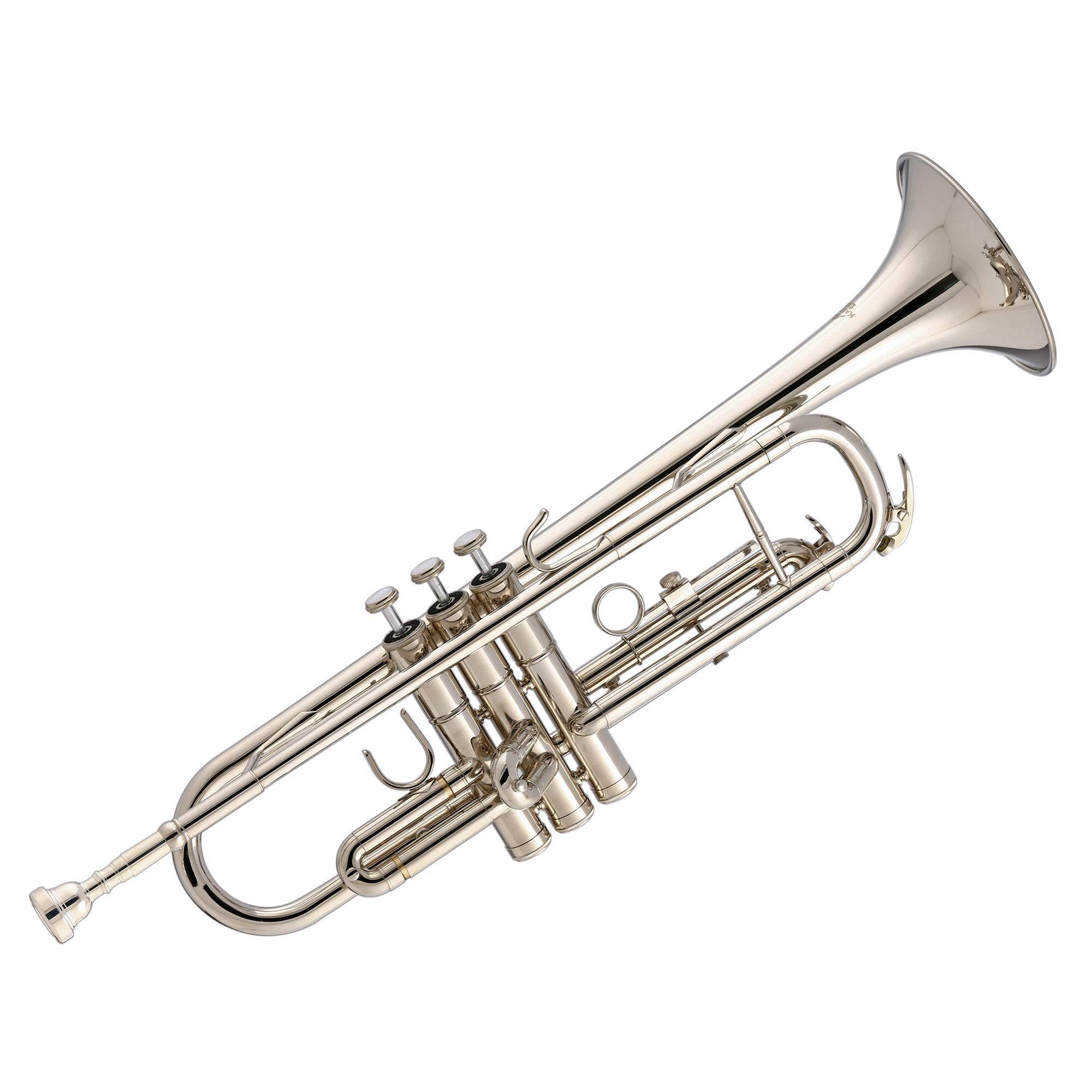 Kaizer TRP-1000NK Standard B Flat Bb Student Trumpet - Nickel Silver