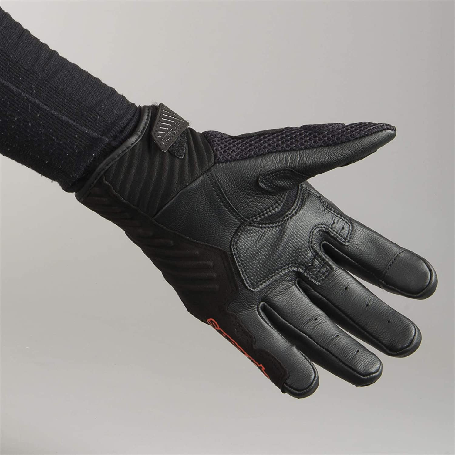 Black//Red Sz M Alpinestars SMX-1 Air V2 Vented Leather Motorcycle Glove