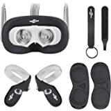 Face Silicone Cover Mask & Face Pad & Touch Controller Grip Cover & Knuckle Strap & Lens Protect Cover Set for Oculus…