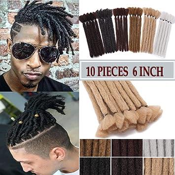 6 Inch Short Dreadlocks Extensions Soft Synthetic Crochet Twist Hair Braids  for Men and Women Faux Locs