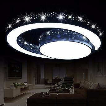 Olqmy Led Deckenleuchte Geformt Schlafzimmer Lampen Schmiedeeisen Wohnzimmerlampe Raumbeleuchtung 45cm Amazon De Beleuchtung