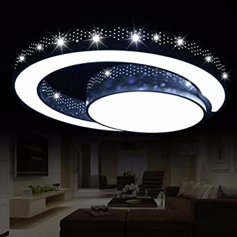 94 amazon wohnzimmerlampe led natsenr led kristall deckenleuchte deckenlampe designer. Black Bedroom Furniture Sets. Home Design Ideas