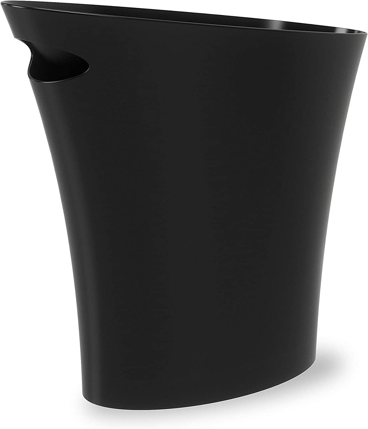 Umbra Skinny Sleek & Stylish Bathroom Trash, Small Garbage Can Wastebasket for Narrow Spaces at Home or Office, 2 Gallon Capacity, Black: Home & Kitchen