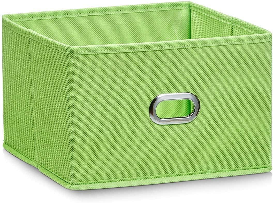 Zeller 14404 - Caja de almacenaje de tela, plegable, 24 x 23 x 16 cm, color verde: Amazon.es: Hogar