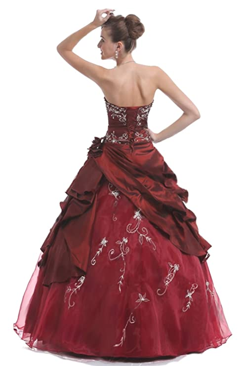 Faironly M37 Strapless Formal Party Prom Dress Ball Gown: Amazon.co.uk: Clothing